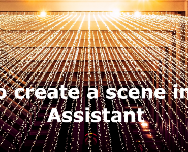 How to create a scene in Home Assistant